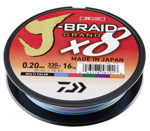 Daiwa J Braid Grand Multicolor